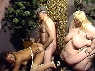German Ssbbw Fucked By Bony Man And Woman.