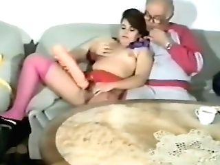 Lil' Tits Nubile Fucks Grandfather 01