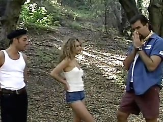 Beauty Draghixa Gets Rectal Gang-fuck In The Forest - Old-school